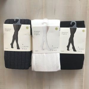 NEW 3 Pairs A New Day Sweater Tights Gray M/L